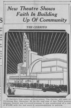 Cerrito Theater on opening day in 1937