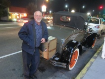 Ken Shapiro with Model A Ford