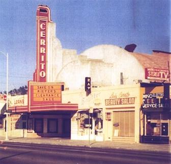 The theater as it looked in 1969, before the marquee was taken down. © Jack Kirby.